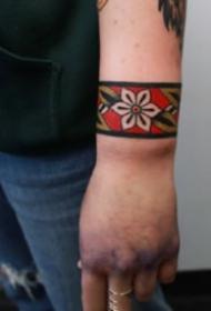 好看漂亮的臂环脚环纹身图案精选