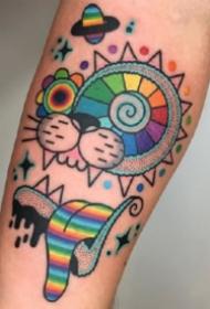 9张好看的彩色插画纹身图案