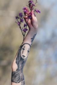 千与千寻里的无脸男纹身图片