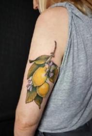 柠檬主题纹身图片精选