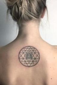 10张黑色线条纹身简笔画纹身图案