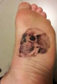 有个性的脚背纹身图案
