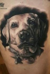 多种风格的狗狗纹身图案