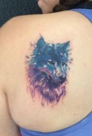 霸气的狼纹身图案
