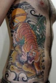 霸气威猛的老虎纹身图案