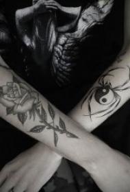 霸气有个性的蜘蛛纹身图案