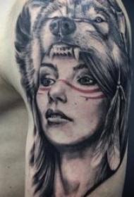 有创意的个性狼纹身图案