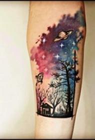 代表坚韧不拔的树木纹身图案