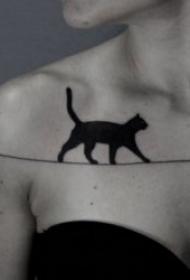 多种风格的小猫咪纹身图案精选