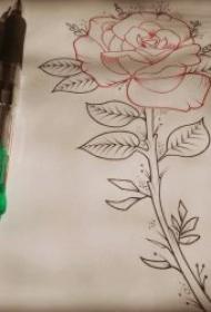 铅笔素描黑灰纹身素材手稿