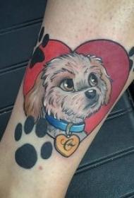 10组温馨浪漫的心形纹身图案