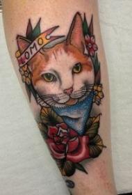 多种风格造型的小猫纹身图案