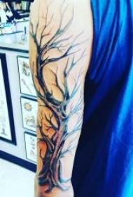 个性又帅气的树木纹身图案