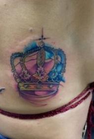 高贵典雅的皇冠纹身图案