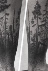 创意而又精彩的森林纹身图案
