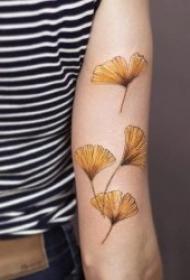10款植物叶子主题彩绘纹身图案