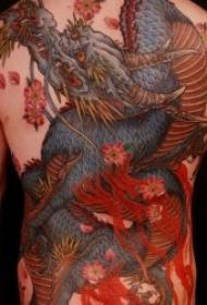 形态各异的传统彩绘龙纹身图案