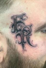 个性时尚的脸部英文纹身图案