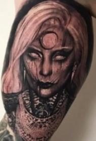 恐怖的暗黑色人物纹身图案