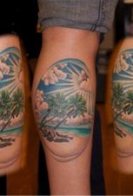 有创意的椰树纹身图案
