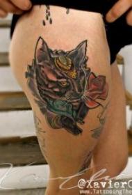多种风格的小猫纹身图案推荐