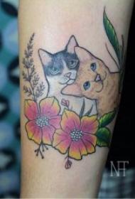 趣味又可爱的小猫咪纹身图案