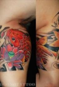 象征好运和吉祥的鲤鱼纹身图案