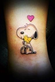 可爱的卡通形象纹身图案
