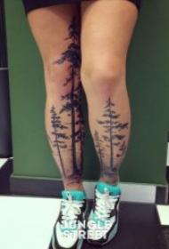 有个性的树木纹身图案
