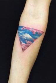 柔美漂亮的樱花纹身图案