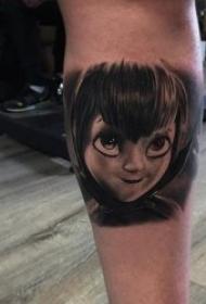 黑灰的迪斯尼动画片人物纹身图案