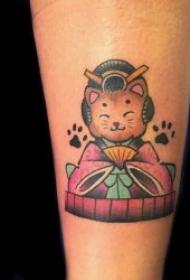 小猫咪的主体纹身图案精选
