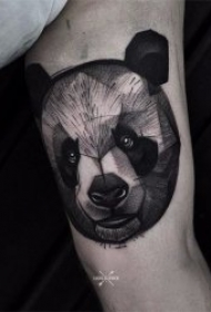 漂亮的黑灰色风格纹身图案