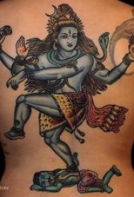印度宗教三相神之一湿婆神纹身图案