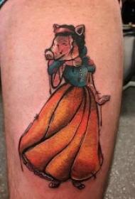 有关小猪的创意纹身图案