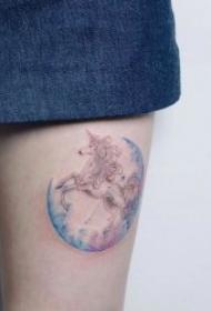 绚丽唯美的水彩纹身图案