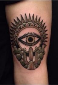 有设计感的仙人掌纹身图案