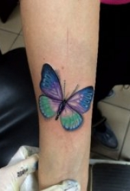 精选几张美丽的蝴蝶纹身图案