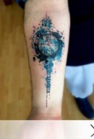 多款关于钟表的纹身图案