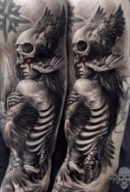 个性有创意的骷髅主题纹身图案