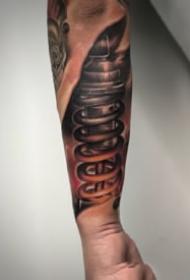 男生酷炫的3d机械手臂纹身图案