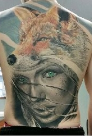 好看的狐狸纹身图案