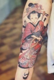 关于日本艺伎的纹身图片