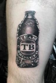 清爽的啤酒主题纹身图案