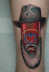 有个性关于啤酒的纹身图案
