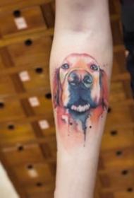 可爱的小猫小狗宠物纹身图案