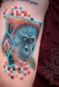 生动活泼的小动物彩绘纹身图案