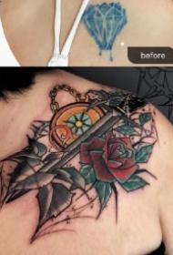 新纹身遮盖老旧纹身的图案