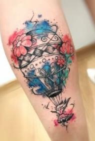 9款小清新的热气球纹身图案