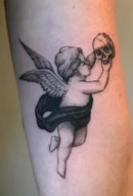 爱神丘比特小天使的纹身图案